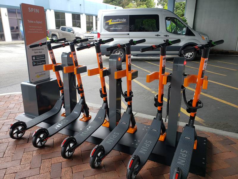Biznow.com: E-Scooter Company To Build Docking stations As Building Amenities